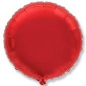 Шар (18''/46 см) Круг, Красный, 1 шт.