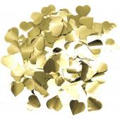 Конфетти фольга Сердце, Золото, Металлик, 3 см, 50 г.