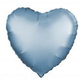 Шар (19''/48 см) Сердце, Стальной синий, Сатин, 1 шт.