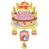 Плакат-подвеска С Днем Рождения! (тортики для девочки), 65 x 38 см