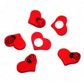 Декоративное украшение Сердце, Божья коровка, Красный, 2,5 см, 12 шт.