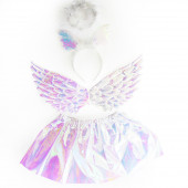 Набор (ободок, юбочка, крылья) Ангел, Белый, 1 шт.