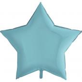 Шар (36''/91 см) Звезда, Голубой, 1 шт.