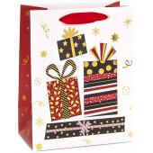 Пакет подарочный, Яркие подарки, Белый, Металлик, 23*18*10 см, 1 шт.