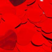 Конфетти фольга Сердце, Красный, 3 см, 50 гр.