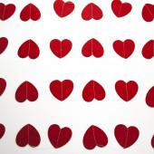 Гирлянда-подвеска Сердце, Красный, 200 см, 1 шт.
