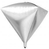Шар 3D (24''/61 см) Алмаз, Серебро, 1 шт.