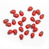 Декоративное украшение Божья коровка, Красный, 2 см, 24 шт.