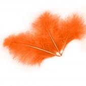 Перья, Оранжевый, 13*15 см, 30 шт.