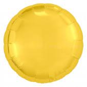 Шар (30''/76 см) Круг, Золото, 1 шт. в упак.