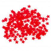 Конфетти Звезды, Красный, мелкие, 17 гр