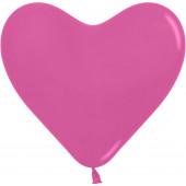 Сердце (12''/30 см) Фуше (012), пастель, 50 шт.
