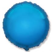 Шар (32''/81 см) Круг, Синий, 1 шт.