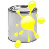 Краска для печати на воздушных шарах, Желтый, флюор, 0,87 л.