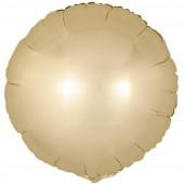 Шар (18''/46 см) Круг, Золото, Сатин, 1 шт.