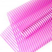 Упаковочная пленка матовая (0,6*8 м) Полосы Люкс, Ярко-розовый, 1 шт.