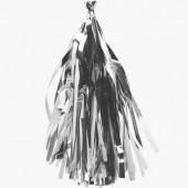 Гирлянда Тассел, Серебро, Металлик, 35*12 см, 12 листов.