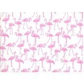 Упаковочная бумага, Крафт (0,7*10 м) Фламинго, Белый, 1 шт.