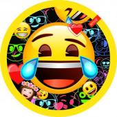 Тарелки (9''/23 см) Смайл, Emoji, Черный, 6 шт.