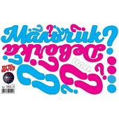Наклейка Гендер Пати, Голубой/Розовый, 30*50 см, 1 шт.