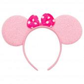 Ободок Ушки, Мышка с бантиком, Розовый
