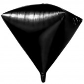 Шар 3D (20''/51 см) Алмаз, Черный, 1 шт.