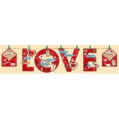 Гирлянда LOVE (сердечки-валентинки), Красный, 220 см