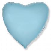 Шар (32''/81 см) Сердце, Голубой, 1 шт.