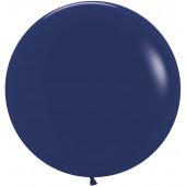 Шар (24''/61 см) Темно-синий (044), пастель, 3 шт.