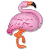 Шар (51''/130 см) Фигура, Фламинго, Розовый, 1 шт.