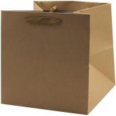 Пакет подарочный, Крафт, 20*20*20 см, 1 шт.