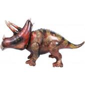Шар (53''/135 см) Ходячая Фигура, Динозавр Трицератопс, 1 шт. в упак.
