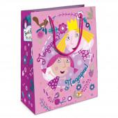 Пакет подарочный, Холли-фея, Розовый, 23*18*10 см, 1 шт.