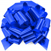 Бант Шар, Синий, Металлик, 36 см, 1 шт.