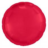 Шар (30''/76 см) Круг, Красный, 1 шт. в упак.