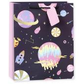 Пакет подарочный, Яркий космос, 23*18*10 см, 1 шт.