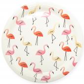 Тарелки (9''/23 см) Фламинго, Белый, 6 шт.