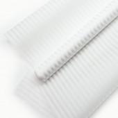 Упаковочная пленка матовая (0,6*8 м) Полосы Люкс, Белый, 1 шт.