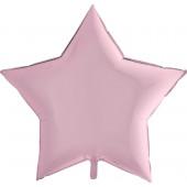 Шар (36''/91 см) Звезда, Розовый, 1 шт.