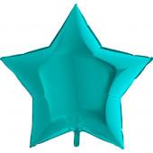 Шар (36''/91 см) Звезда, Тиффани, 1 шт.