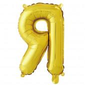 Шар с клапаном (16''/41 см) Мини-буква, Я, Золото, в упаковке 1 шт.