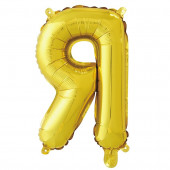 Шар с клапаном (16''/41 см) Мини-буква, Я, Золото, 1 шт. в упак.