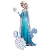 Шар (57''/145 см) Ходячая Фигура, Холодное сердце, Принцесса Эльза, 1 шт. в упак.