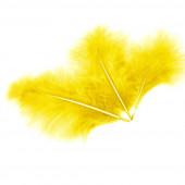 Перья, Желтый, 10*15 см, 30 шт.