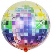 Шар (24''/61 см) Сфера 3D, Сверкающее диско, Разноцветный, Градиент, 1 шт.