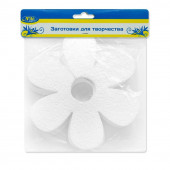 Фигура из пенопласта Цветок, Белый, 15 см, 5 шт.