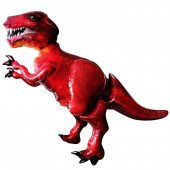 Шар (68''/173 см) Ходячая Фигура, Динозавр, Красный, в упаковке 1 шт.