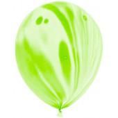 Шар Мрамор (12''/30 см) Зеленый, агат, 50 шт.
