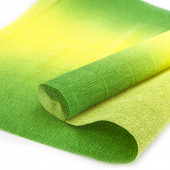 Упаковочная гофрированная бумага (0,5*2,5 м) Зеленый/Желтый, Градиент, 1 шт.