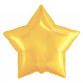 Шар (19''/48 см) Звезда, Светлое золото, 1 шт.